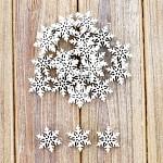 Vločky dřevo bílá - 12ks