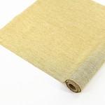 Látková šerpa - zlatá lesklá - 2,5 m