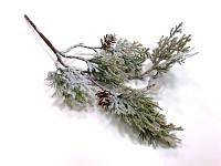 Větvička vánoční bobule a vločka - 1 ks