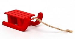 Sáňky červené - 65mm