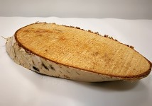 Dřevěný březový oválek - 12 cm