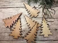 Dřevěné stromečky lasercut - 6 ks