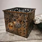 Plechový šuplík vintage gold - malý