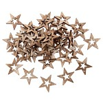Dřevěné hvězdičky 25mm duté - hnědé - 10 ks