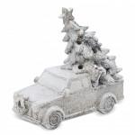 Autíčko se stromkem svítící - náklaďák - bílé