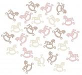Houpací koníci - bílo-růžový mix - 24 ks