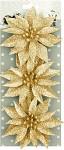 Vánoční květina zlatá - 3ks