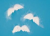 Andělská křídla 8 cm na klipu - 3 ks