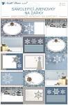 Samolepicí jmenovky na dárky - stříbrno-zlaté - 15 ks