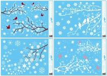 Samolepicí folie do okna - zimní větve - mix