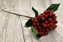 Větev s bobulkami 36 cm - červená