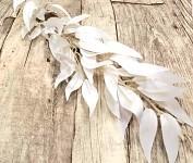 Ruscus barvený - bílý - 60 cm