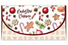 Vánoční obálka na peníze - Pohodové Vánoce
