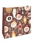 Vánoční dárková taška  na víno - WILH domečky