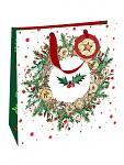 Vánoční dárková taška - červeno-zelená