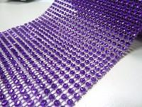 Diamantový pás - 12cm/1m - fialový