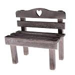 Dřevěná lavička - šedá