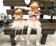 Andělka se sovičkou sedící - růžová