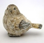 Ptáček zimní glitter - 6 cm