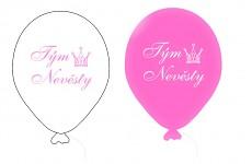 Balonek - tým něvěsty růžovo-bílý mix