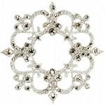 Nalepovací šperk na tělo a vlasy Swarovski  - stříbrný ornament čirý