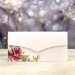 Obálka na peníze LUX - bílá s růží