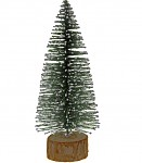 Drátěný umělý stromeček zasněžený - 23 cm