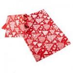 Vánoční prostírání - červené s bílým potiskem - 2 ks