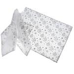 Vánoční prostírání - bílé se stříbrným potiskem - 2 ks