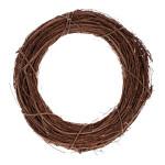 Věnec mactanová tráva bělený - 35 cm