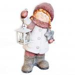 Figurka zimní děti s lucernou - 47 cm