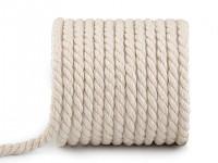 Přírodní bavlněný provázek kroucený - 8 mm/1 m