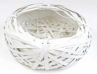 Aranžovací miska - bílé proutí - 30 cm