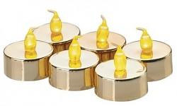 LED čajová svíčka - zlatá - 1ks