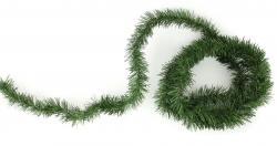 Zelené chvojí na drátku - 4 m