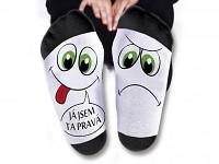 Humorné ponožky - jsem ta pravá
