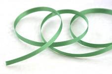 Saténová stuha oboulící - šalvějově zelená - 6 mm - 1m