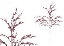 Větvička vánoční se šiškami zasněžená - 27 cm
