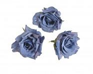 Hlavičky poupat růží - mini rozvité- tm.modré