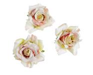 Hlavičky poupat růží - mini rozvité- růžovo-zelené