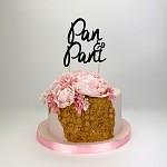 Zápich do dortu - pan a paní černý - 1ks