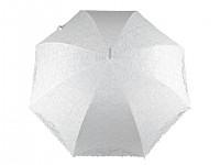 Krajkový svatební deštník  - bílý, krémový