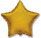 Foliový balonek - hvězda zlatá