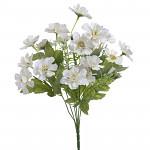 Umělá kytice klematis - růžovo-bílá