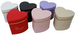 Dárkový (květinový) box mini srdce - 95 mm - růžové