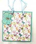 Dárková taška motýlci s květinami - malá