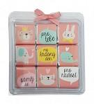 Čokoládové LOVE puzzle - růžové - 9 ks
