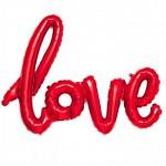 LOVE - foliový nápis - červený