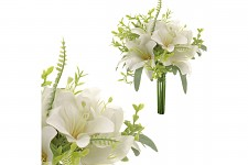 Kytice bílých lilií - 27 cm