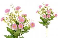 Kytice sedmikrásek - růžová